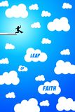 Leap of faith Stock Images
