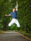 Jumping man Stock Photo