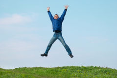 Jumping man Royalty Free Stock Photography