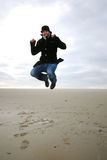 Jumping man Stock Photos