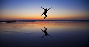Jumping man Stock Image