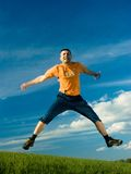 Jumping Man Royalty Free Stock Photo