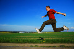 Jumping man Stock Images