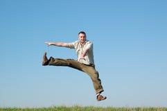 Jumping man Royalty Free Stock Image