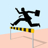 Jumping man with bag Royalty Free Stock Images