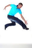 Jumping man modern dancer Royalty Free Stock Photo