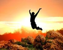 Jumping man silhouette
