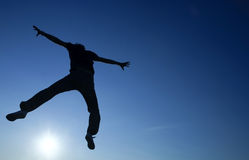 Jumping Man Silhouette Royalty Free Stock Image