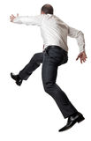 Jumping man on white Royalty Free Stock Images