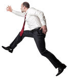 Jumping man on white Stock Photography