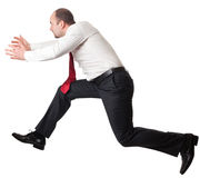 Jumping man on white Royalty Free Stock Image
