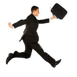 Jumping manager Stock Images