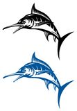Jumping marlin Stock Image