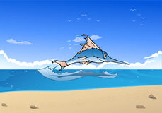 Jumping marlin fish Stock Image