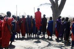 A jumping masai Stock Photo