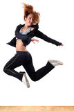 Jumping modern ballet dancer stock photography