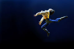 jumping modern dancer  Stock Photo
