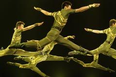 Jumping modern dancer Stock Photography