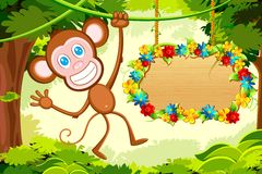 Jumping Monkey Royalty Free Stock Photography