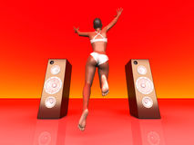 Jumping in Music Royalty Free Stock Images