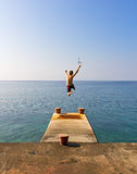 Jumping ocean Royalty Free Stock Photo