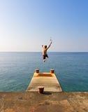Jumping ocean Royalty Free Stock Photo
