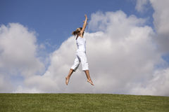 Jumping outdoor Stock Image
