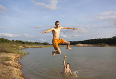 Jumping Over Royalty Free Stock Photos