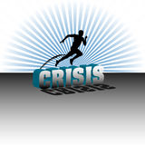 Jumping over the crisis Stock Images