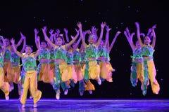 Jumping-Peking Opera students-The national folk dance Stock Photo