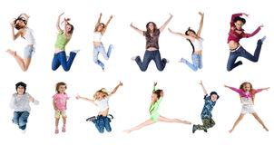 Jumping people Royalty Free Stock Photos