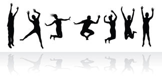 Jumping people Royalty Free Stock Image