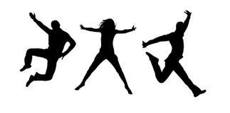 Jumping people vector illustration