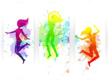 Jumping People Banners Royalty Free Stock Images