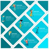 Jumping People Infographic Stock Photos