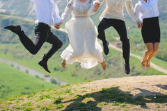 Jumping People Stock Image