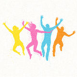 Jumping People Mosaic Vector Royalty Free Stock Photo