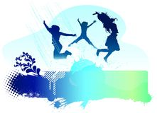 Jumping people vector Royalty Free Stock Photography