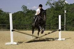 Jumping Practice Stock Photography