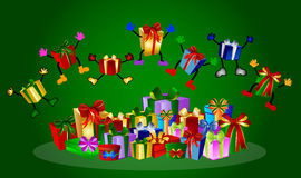 Jumping presents Stock Image