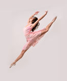 Jumping professional ballet girl dancer Royalty Free Stock Photo