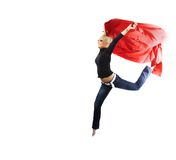 Jumping with the red Royalty Free Stock Photos