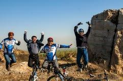 Jumping rider Stock Photo