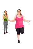 Jumping rope with succes Stock Photo
