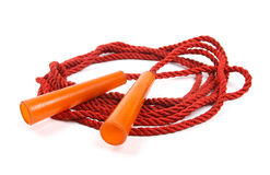 Jumping rope  on white Royalty Free Stock Photo
