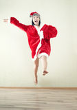Jumping Santa Royalty Free Stock Photography