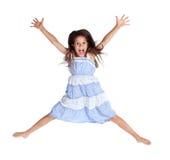 Jumping screaming girl Royalty Free Stock Image