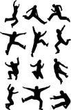 Jumping Shadows. Ai 10 + eps 8 Royalty Free Stock Photo