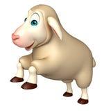 Jumping Sheep  cartoon character Stock Image