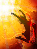Jumping silhouette. Vector design of a woman jumping silhouette Royalty Free Stock Images